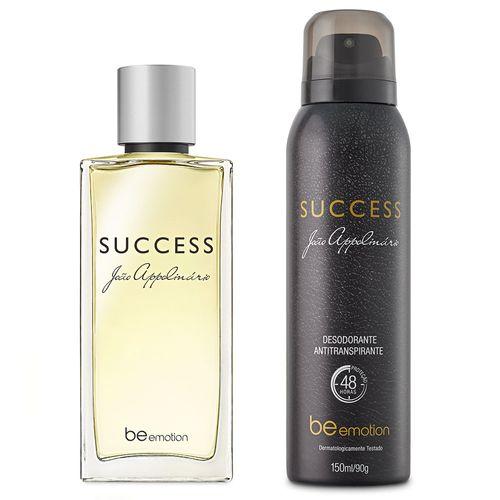 Perfume Success + Desodorante Antitranspirante 48h Success João Appolinário Be Emotion