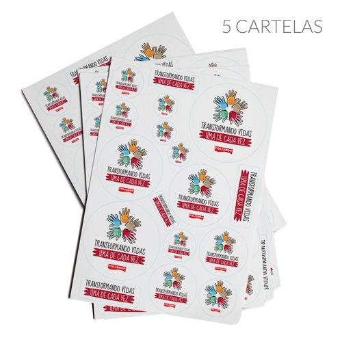 Adesivos - 5 Cartelas - Transformando Vidas Uma De Cada Vez