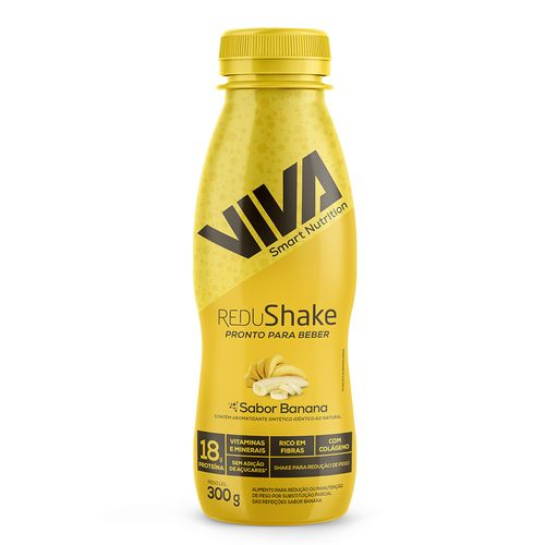 Redushake Pronto Para Beber Viva Smart Nutrition - Banana - 12 Unidades