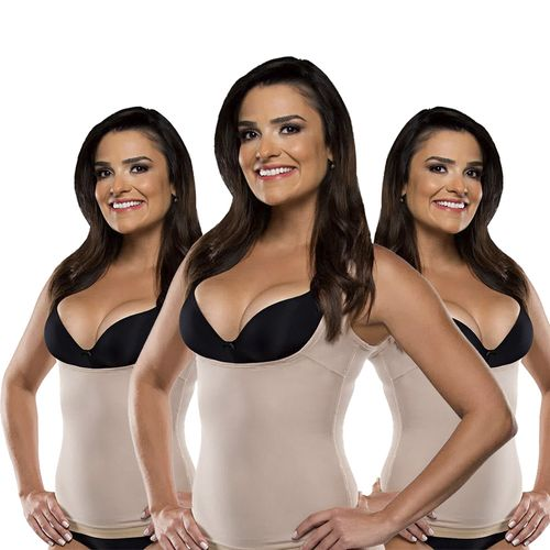 Cinta Modeladora Shape Now T-Shirt Be Emotion - Feminino - Nude (3 uni. P, M e G)