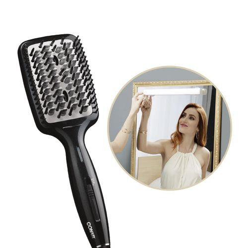 Escova Elétrica Alisadora Diamond Brilliance Conair + Luminária Glamour Light Be Emotion