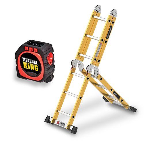 Escada Super Ladder Gold Series Polishop + Trena Digital Measure King Polishop
