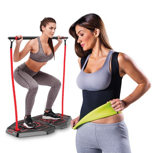 Plataforma de Exercícios Transformer Full Body Station Genis + Fitnow T-Shirt Polishop Feminino