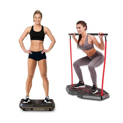 Plataforma Vibratória Genis Energym Pro + Genis Plataforma de Exercícios Transformer Full Body Station