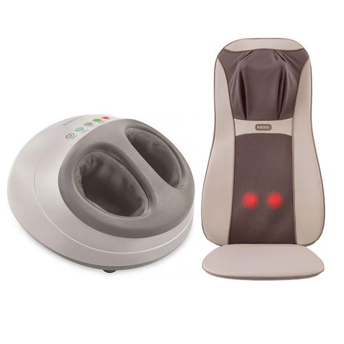 Assento Massageador Shiatsu Elite Pro Homedics + Foot Massager Shiatsu Air Pro Homedics