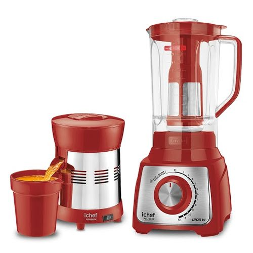 Liquidificador + Extrator Suco Red ICHEF + GANHE R$ 69 Desc.