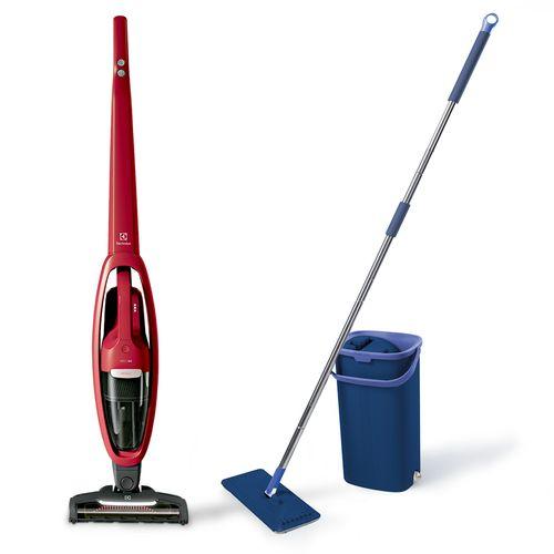 Aspirador Ergorapido Turboclean  Ganhe Wash & Dry mop